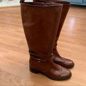 Etienne Aigner Cailyn Leather Riding Boots